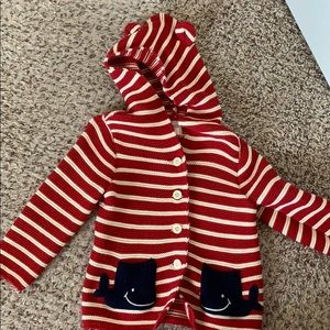 Toddler Baby Gap knit sweater with ears on hood